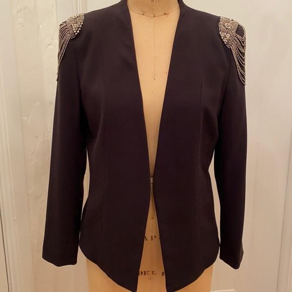 Beautiful H & M black crepe evening jacket